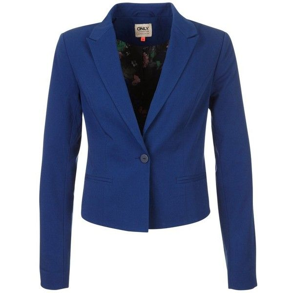 ONLY KAISER Blazer ($38) ❤ liked on Polyvore featuring outerwear, jackets, blazers, blazer, blue, women's outerwear, blue blazer, blazer jacket, blue jackets and only jackets
