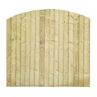 Grange Dome Feather Edge Fence Panels 1.8 x 1.7m 4 Pack | Feather Edge | Screwfix.com