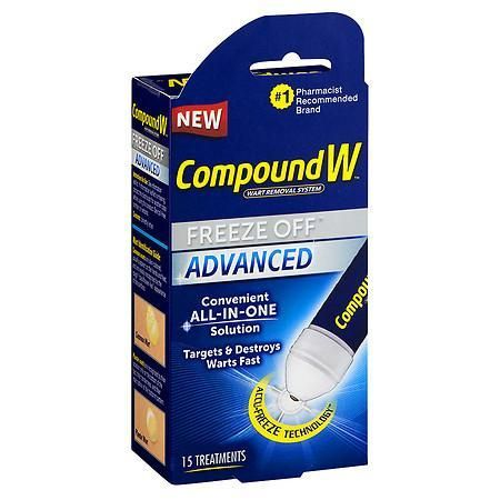 Compound W Wart Removal System Freeze Off Advanced Treatment - 15 ea http://www.wartalooza.com/treatments/compound-w-wart-remover