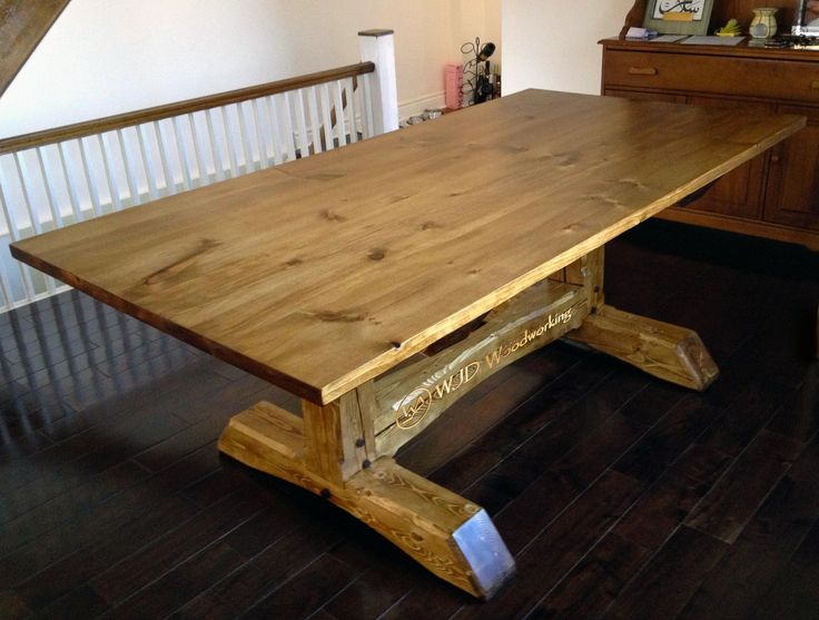 Reclaimed White Pine Timberframe Dining Table