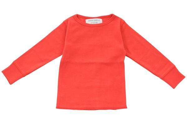 long sleeve shirt in racing red - Sweet Peanut