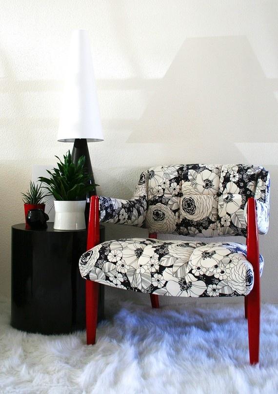 Mod floral chair - $275