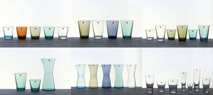 Gorgeous Ittala pitchers and drinking glasses