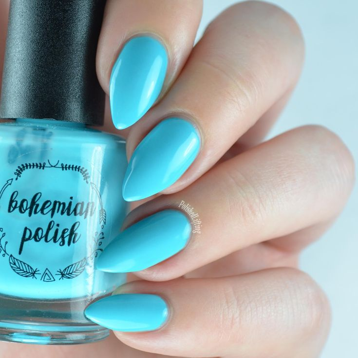 Image result for neon blue nail polish