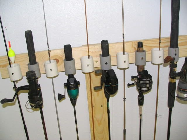 Fishing pole storage the garage journal board garage for How to store fishing rods