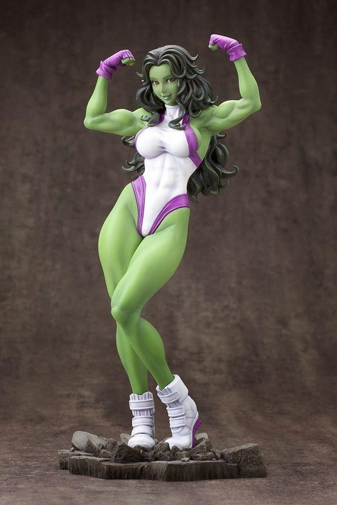 BLOG DOS BRINQUEDOS: She-Hulk Bishoujo Statue