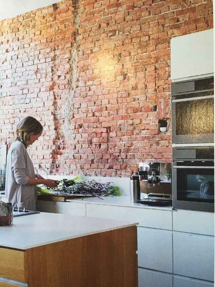 Meer dan 1000 idee n over baksteen slaapkamer op pinterest bakstenen slaapkamer baksteen en - Bakstenen muur woonkamer ...