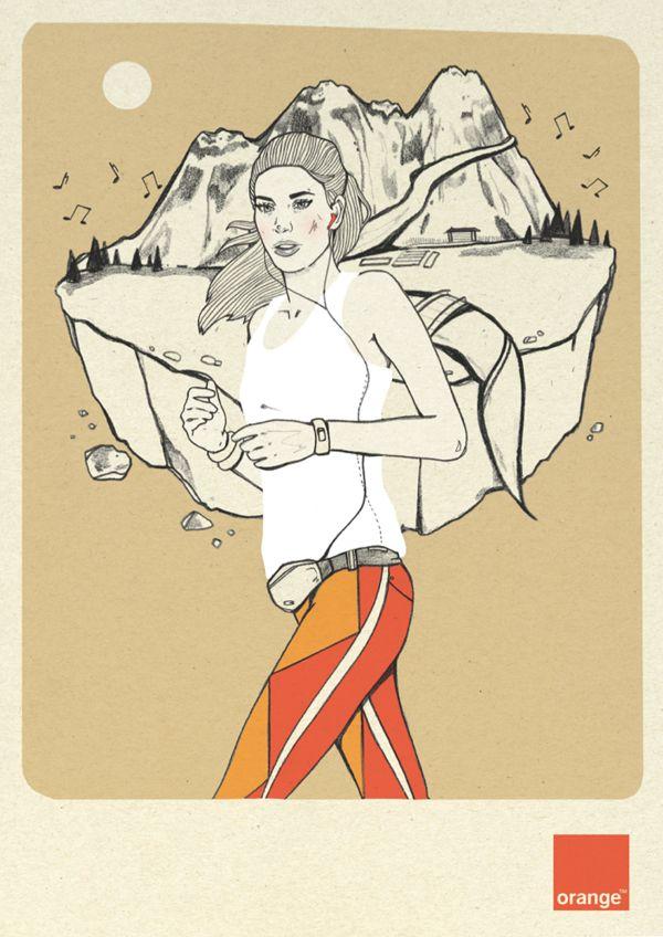 Orange Polska 2 by Magdalena Pankiewicz, via Behance
