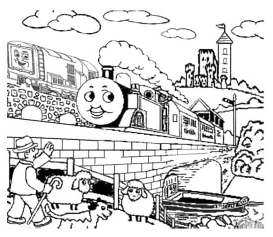 10 best Thomas Coloring Page images on Pinterest | Malvorlagen, Zug ...