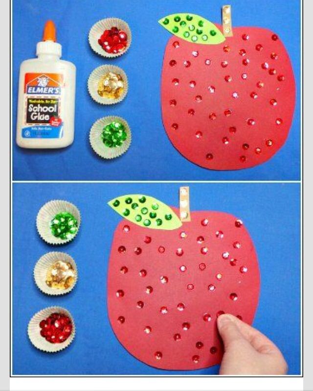Glue and stick - can be any shape