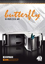Butterfly by Outline  Country : ITALY European Patents: Low Frequency Loudspeaker Enclosure with Configurable Directivity (Speakers I Sound System)