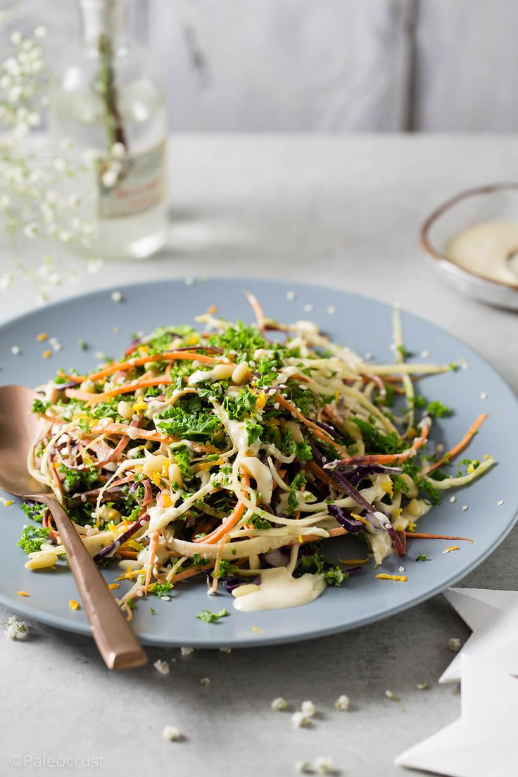 Healthy coleslaw, Veganuary, free from recipes, glutenfreeveganuary, healthy kale and carrot slaw, vegan coleslaw recipe, healthy slaw, winter slaw, tahini, Paleo Crust, healthy salad, salad recipe