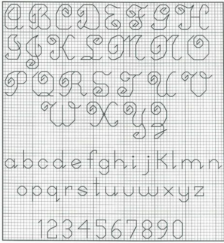 25  best images about backstitch alphabets on pinterest