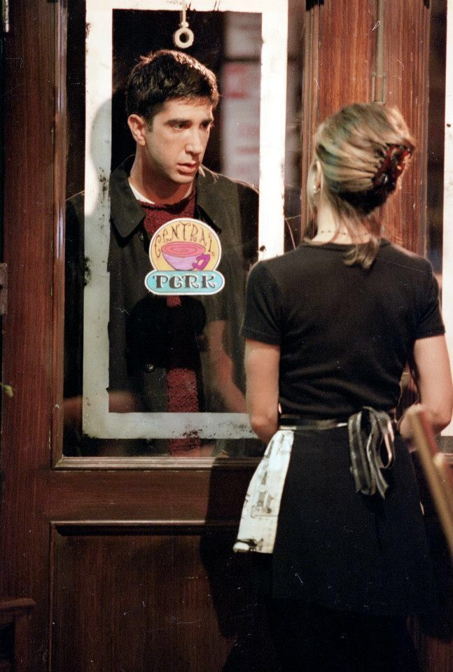 Ross and Rachel. After all these years, I STILL get goosebumps when I watch this scene... #FriendsTV