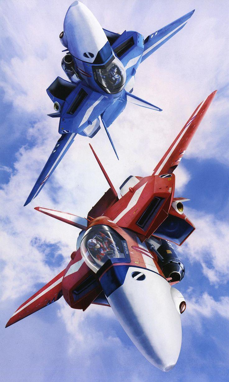 Macross   Max Sterling and Miriya Parina VF-1J Valkyrie ...