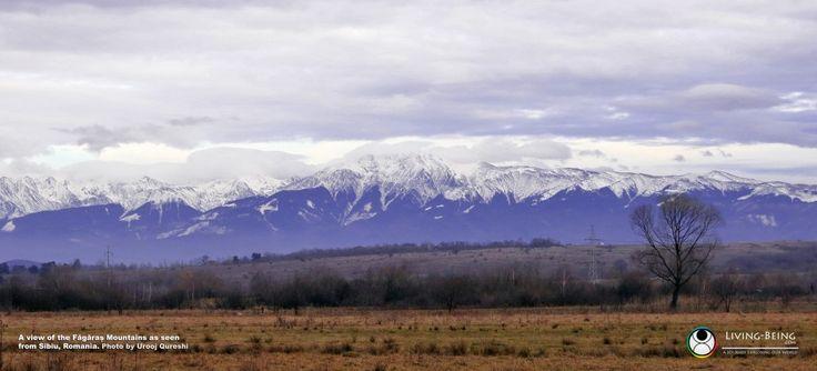 The mighty Fagaras Mountains as seen from Sibiu, Romania