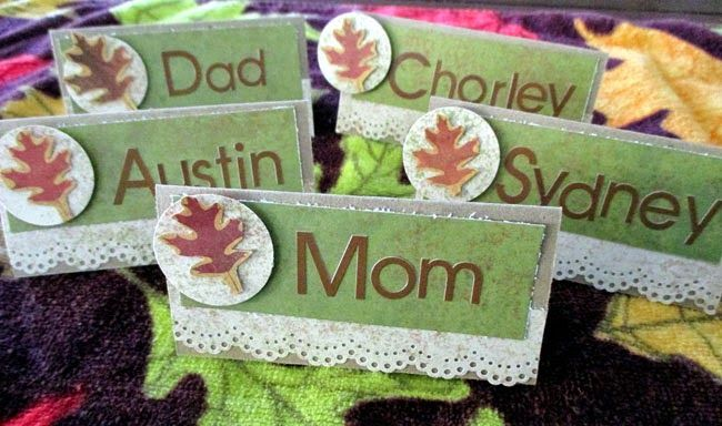 Thanksgiving name cards by Muse Wendi