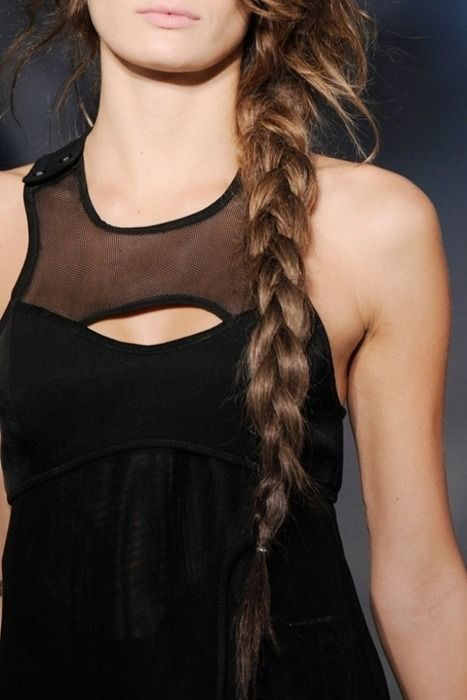 : Longer Hairs, French Braids, Cant Wait, Long Braids, Long Hairs Dos, Alexander Wang, The Dresses, Side Braids, Braids Hairs