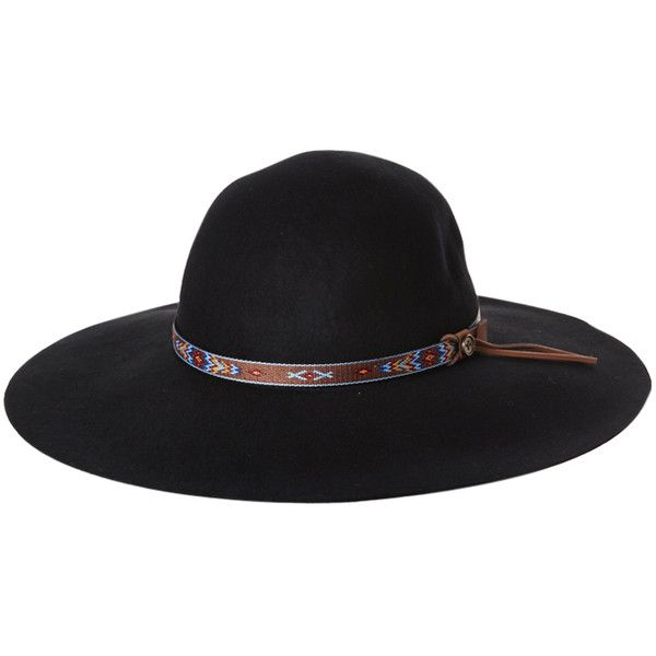 Fallenbrokenstreet The New Little Hippie Hat (91 AUD) ❤ liked on Polyvore featuring accessories, hats, black, hippie hats, brimmed hat, floppy hippie hat, hippy hats and floppy hat