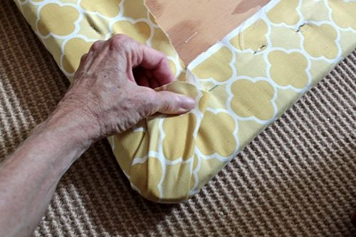 This is a a great tutorial on how to recover chair seats! I'm totally going to need to do this to the dining room chairs and cover them with a fabric than can survive toddler boys.