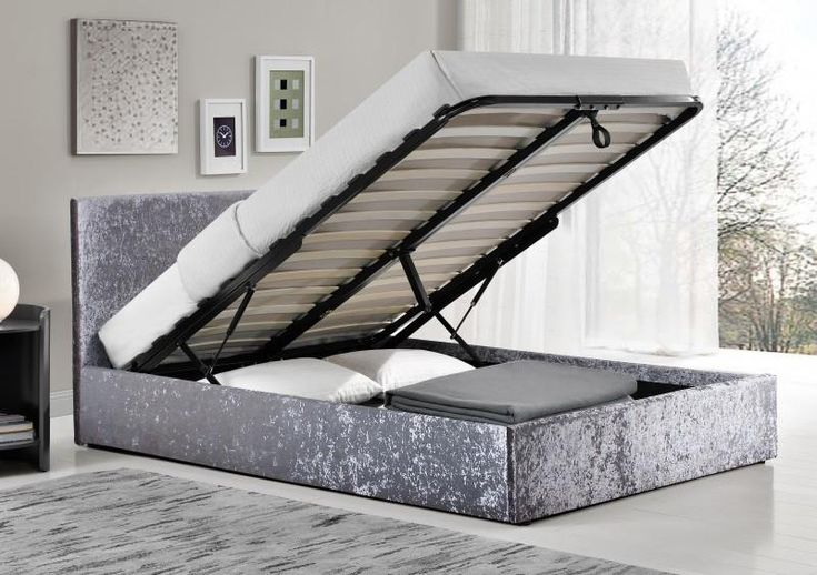 The Berlin Crushed Velvet Ottoman Bed Frame is ideal for those who are looking for that extra storage space. Save Upto 80% Sale Now On.