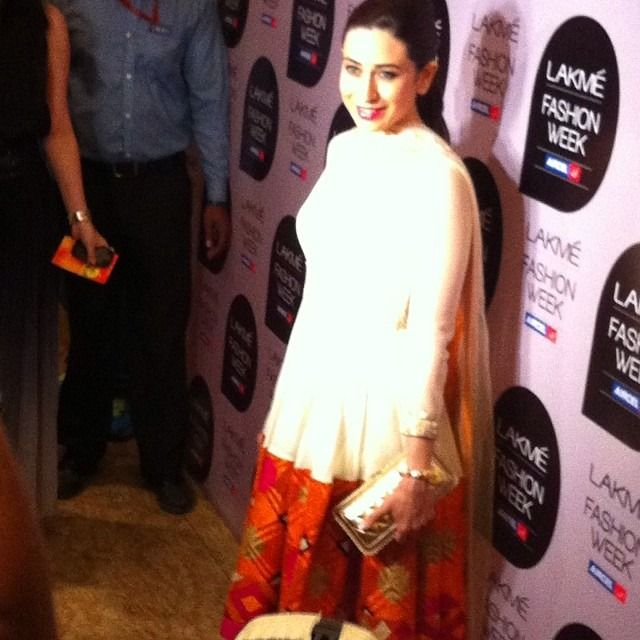 Some people say stars only look amazing on tv. But #karishmakapoor was absolutely flawless in person. Radiant and glowing. Natural beauty. My #flashback #lfw #lakmefashionweek #2013 #fashioneasta #zuricouture #southafrica #za #mumbai #bollywood #flawless
