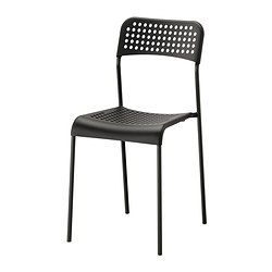 IKEA - ADDE, Chair, You can stack the chairs, so they take less space when you're not using them.