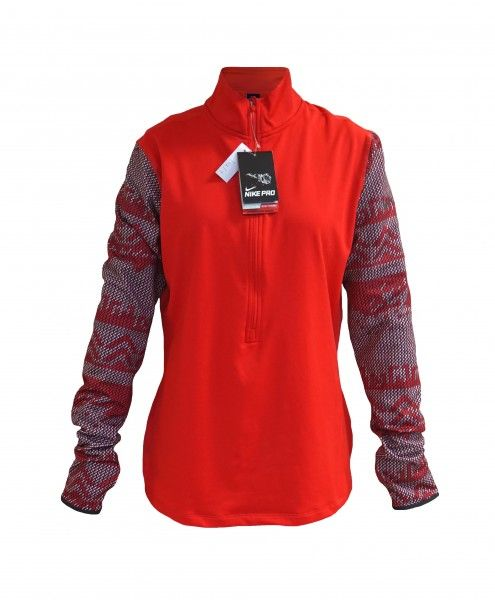 Moteriškas Nike džemperis. Segamas pusinis užtrauktukas, aukštesnis kaklas, riešai perkišami per pirštą. #women #fashion #clothes #moteriski #drabuziai #internetu