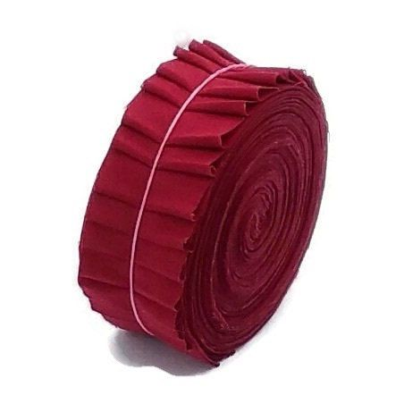 A personal favourite from my Etsy shop https://www.etsy.com/listing/234727145/ruby-red-precut-fabric-strips-various