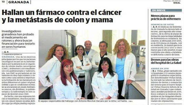El mundo está de fiesta: Investigadores encuentran Fármaco contra el Cáncer de Colon, Mama y melanoma (piel) - Mundo Salud