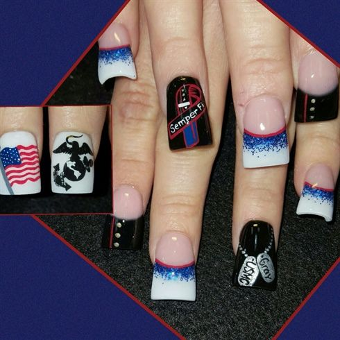 USMC+by+Oli123+-+Nail+Art+Gallery+nailartgallery.nailsmag.com+by+Nails+Magazine+www.nailsmag.com+%23nailart