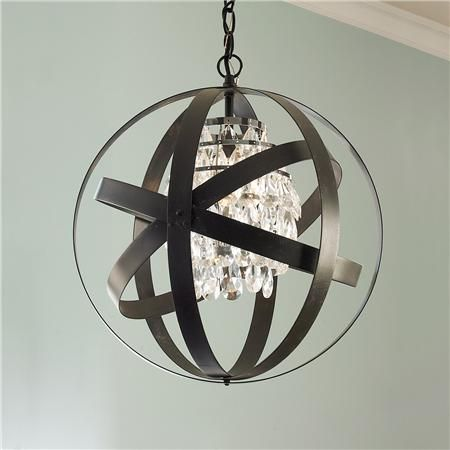 Glam Metal Strap Lantern-Shades of Light - Butler's Pantry OR Entry room to Powder Room