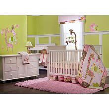 I like pinks and greens too Carters Jungle Jill 7-Piece Crib Bedding Set - Carters - Babies R Us