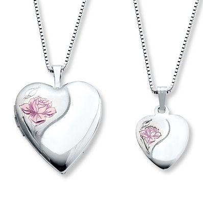 11 best mother daughter necklaces images on pinterest mother motherdaughter necklaces heart with rose sterling silver aloadofball Gallery