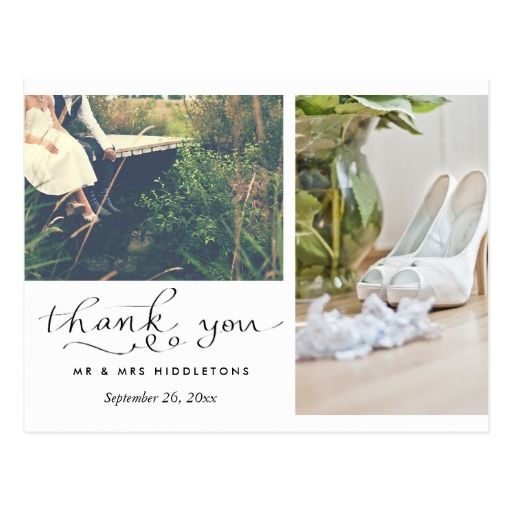 Best Wedding Thank You Cards Images On   Card