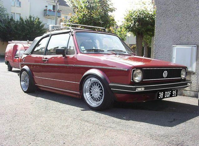Garnet VW Golf Cabriolet Mk1 With BBS And Roof Rack | VW Golf Cabriolet Mk1  | Pinterest | Mk1, Roof Rack And Cars