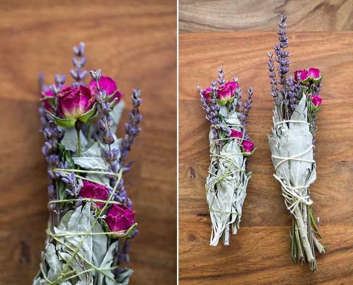 Learn how to make a smudge stick with this easy floral DIY from 100 Layer Cake!
