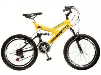 Bicicleta Colli Bike Infantil Dupla Suspensão - Aro 20 21 Marchas Dupla Suspensão Quadro de Aço