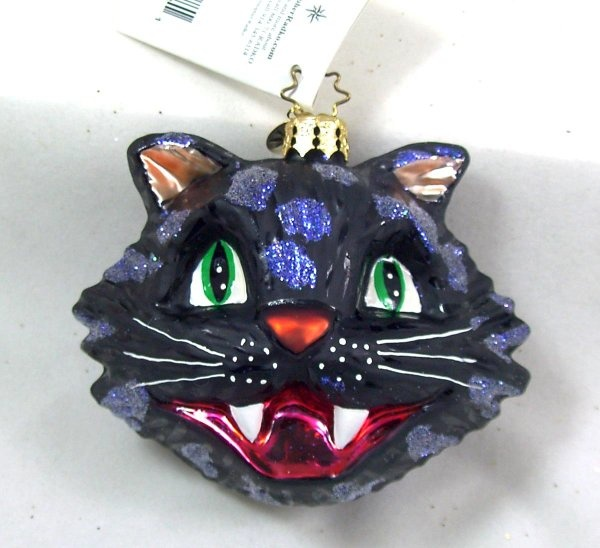 scary black cat halloween ornament - Halloween Christmas Ornaments