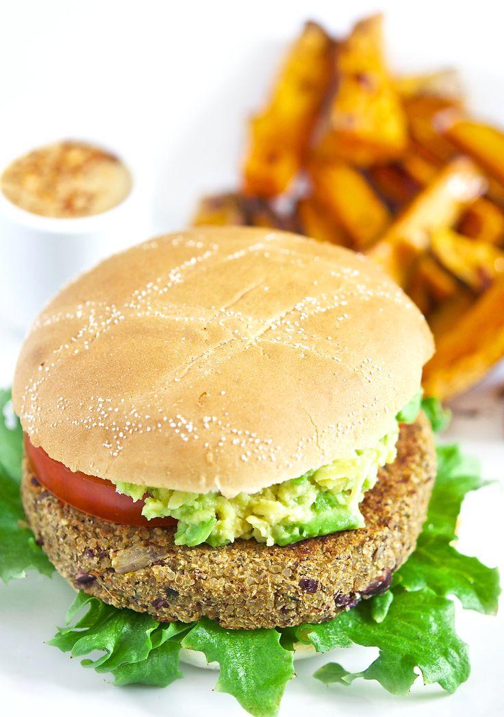 Quinoa- og kidneybønneburger