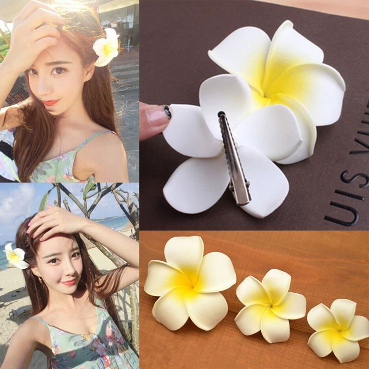5/10Pcs Hawaiian Plumeria Foam Flowers Foam Hair Clip Hair Pins Hair Accessory #Unbranded #Sexy #partypromweddingbridal
