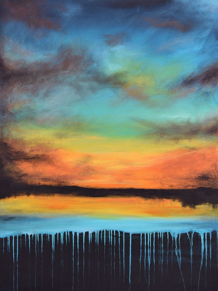 Evening Glory - Acrylic on canvas - by New Zealand artist Julian Hindson - 900mm x 1200mm - www.hindson.co.nz