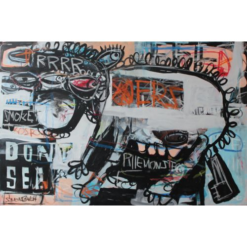 Simon Buch 80x120cm Don't look at me