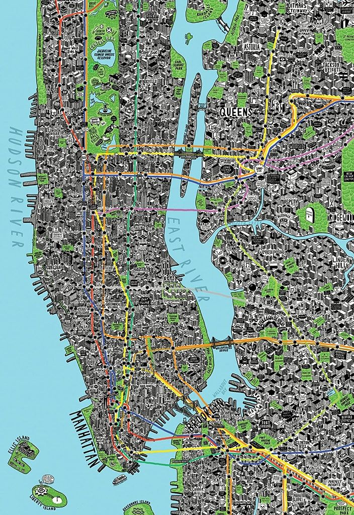 Chicago Map Grid%0A    of the best handdrawn maps  u     in pictures