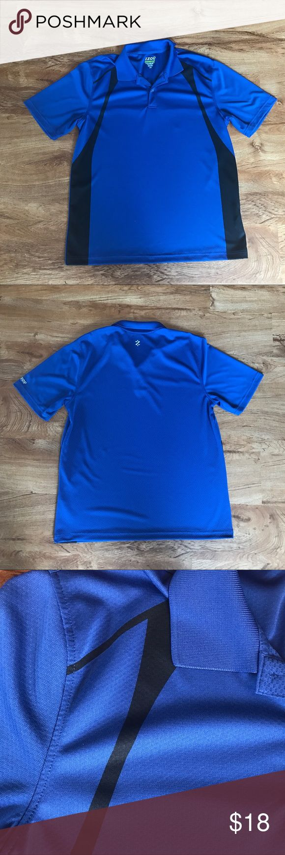 Selling this Izod Performance Golf Polo Shirt Blue Slim Fit on Poshmark! My username is: iheartfashion6. #shopmycloset #poshmark #fashion #shopping #style #forsale #Izod #Other