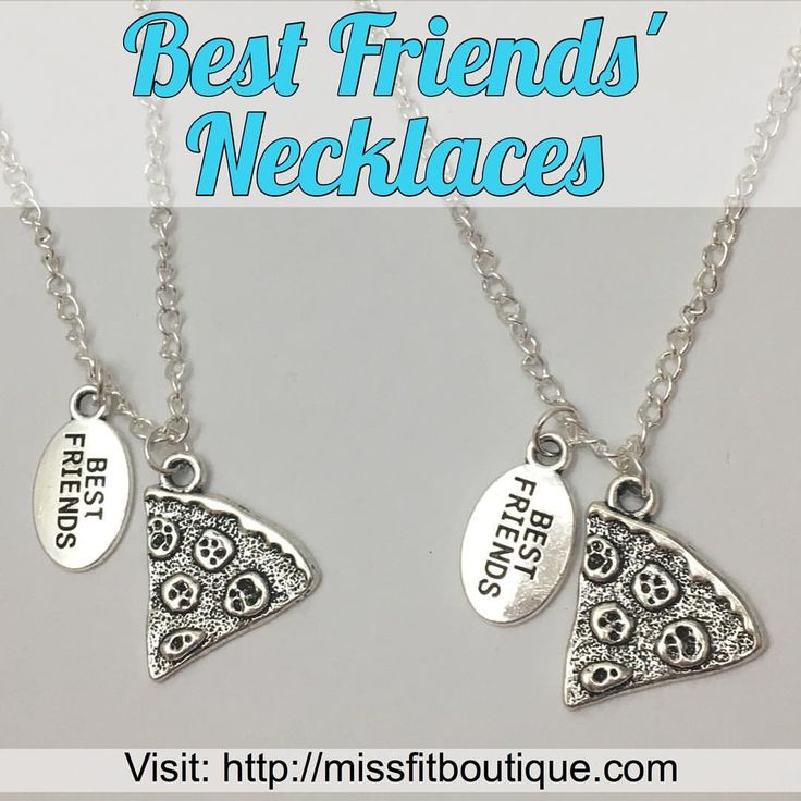 """369 Likes, 5 Comments - Motivational Fitness Jewelry (@missfitboutique) on Instagram: """"Wearable Art: Two Matching Best Friends' Pizza Slice Necklace!  . Available NOW at…"""""""