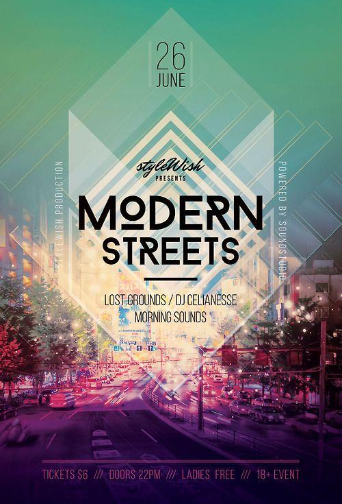 Modern streets poster design