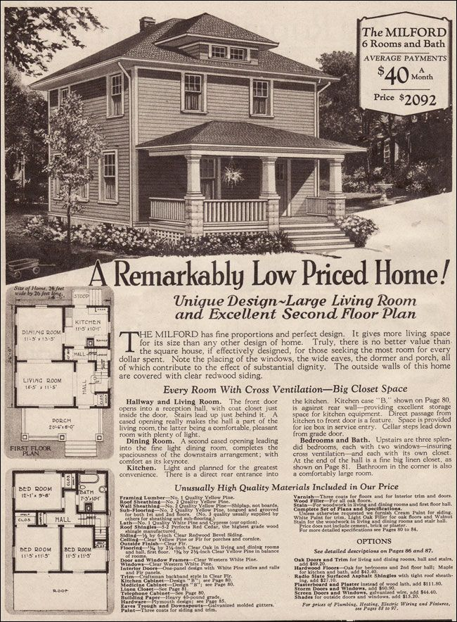 1930 Montgomery Ward Milford Four Square House History