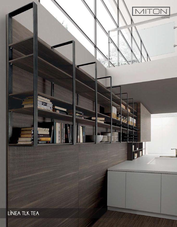 La #cocina se abre a nuevas #dimensiones de #diseño de #interiores.  #Tea de TLK de Miton