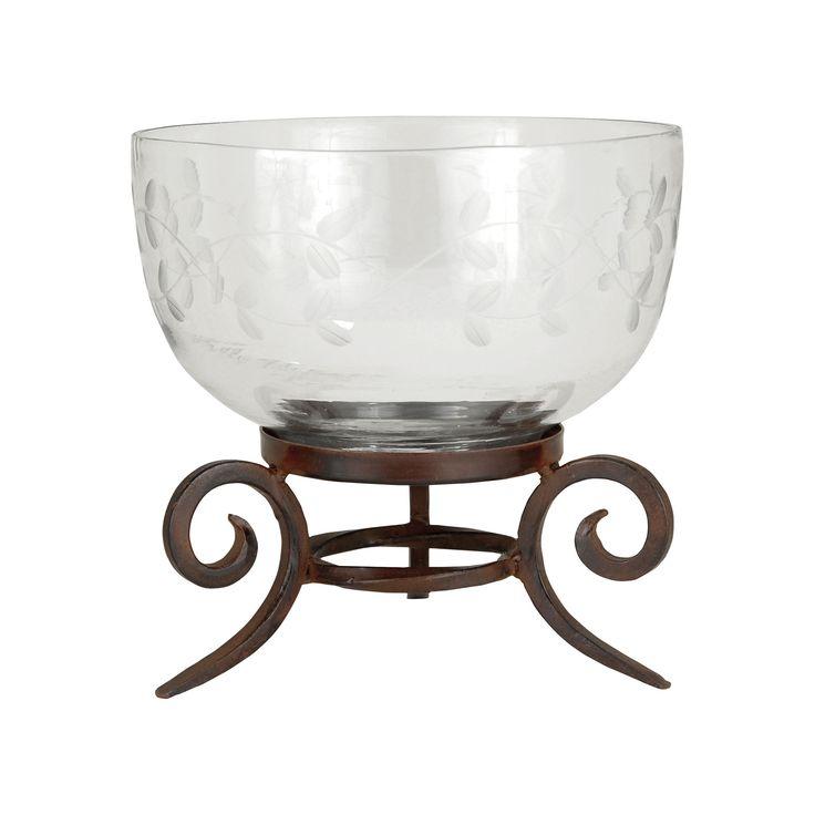 Pomeroy POM-619212 Luminati Collection Montana Rustic,Clear Finish Bowl